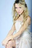 Bello blonde della ragazza Fotografia Stock