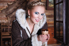 Bello blonde sorridente Immagine Stock