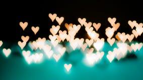 Bello bokeh delle luci su fondo defocused sotto forma della h Fotografia Stock Libera da Diritti