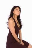 Bello brunete che daydreaming Fotografie Stock Libere da Diritti