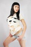 Bello brunette fotografia stock libera da diritti