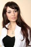 Bello brunette della ragazza Fotografie Stock Libere da Diritti