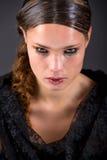 Bello brunette in rotture immagini stock libere da diritti
