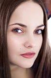Bello brunette triste Immagini Stock