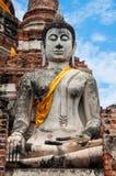 Bello Buddha in tempio. Fotografie Stock Libere da Diritti
