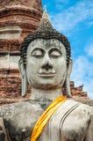 Bello Buddha in tempio Fotografie Stock