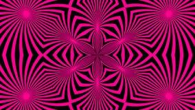 Bello caleidoscopio astratto con le linee luminose, contesto della rappresentazione 3d, generazione di simmetria del computer Immagini Stock Libere da Diritti