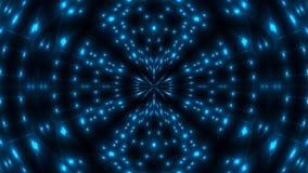 Bello caleidoscopio astratto - la luce blu di frattale, 3d rende il contesto, computer che genera il fondo Immagini Stock Libere da Diritti