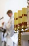 Bello candeliere in cattedrale Fotografia Stock Libera da Diritti