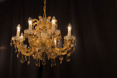 Bello candeliere a cristallo classico Fotografie Stock Libere da Diritti