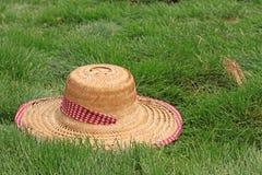 Bello cappello di paglia Fotografie Stock