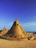 Bello castello della sabbia immagine stock libera da diritti