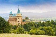 Bello castello di Bojnice Fotografie Stock