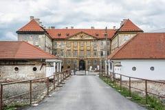 Bello castello in Holic, Slovacchia, eredità culturale fotografie stock libere da diritti