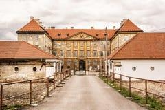 Bello castello in Holic, Slovacchia, retro filtro dalla foto immagine stock libera da diritti