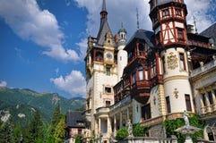 Bello castello Peles in Sinaia, Romania Fotografie Stock