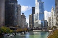 Bello Chicago moderno Immagine Stock