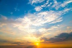 Bello cielo al tramonto Immagini Stock Libere da Diritti