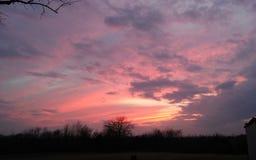 Bello cielo al tramonto fotografia stock libera da diritti