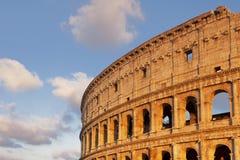 Bello cielo al tramonto vicino al Colosseum Fotografia Stock Libera da Diritti