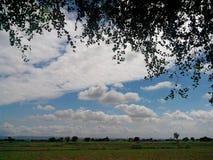 Bello cielo blu Fotografia Stock Libera da Diritti