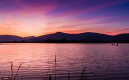 Bello cielo crepuscolare Fotografie Stock