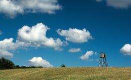 Bello cielo di estate all'Ungheria, con le nuvole Fotografia Stock
