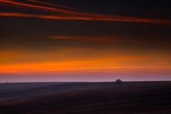 Bello cielo di sera Fotografia Stock Libera da Diritti