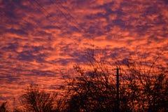 Bello cielo di tramonto Fotografie Stock