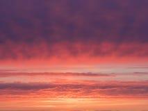 bello cielo magenta ed arancio Fotografia Stock Libera da Diritti