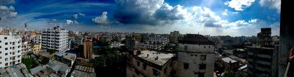 Bello cielo su Dacca Immagine Stock
