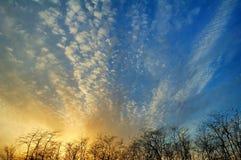 Bello cielo sul tramonto Immagine Stock