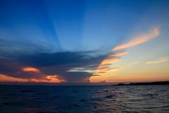 Bello cielo, tramonto, stupente Fotografie Stock