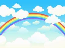 Bello cloudscape con il Rainbow. Fotografie Stock Libere da Diritti