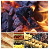 Bello collage 1 del barbecue Immagine Stock