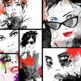 Bello collage Fotografia Stock