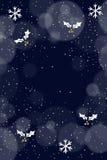Bello colore blu della cartolina d'auguri di Natale royalty illustrazione gratis