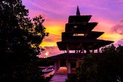 Bello colore di tramonto a Siargao immagine stock libera da diritti