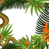 Bello confine della pianta e del fiore illustrazione vettoriale