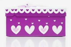 Bello contenitore di regalo viola fatto a mano Fotografia Stock