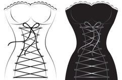 Bello corsetto sexy della donna Fotografia Stock