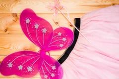 Bello costume di una principessa della farfalla per una ragazza Fotografia Stock