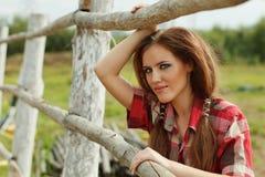 Bello cowgirl immagini stock