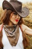 Bello cowgirl fotografia stock