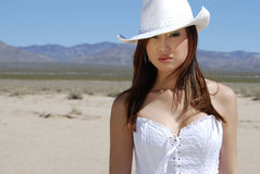 Bello Cowgirl asiatico Fotografie Stock