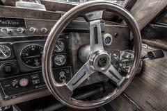 Bello cruscotto della barca di velocità a Lago di Como fotografie stock