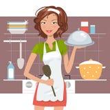 Bello cuoco unico della donna Royalty Illustrazione gratis