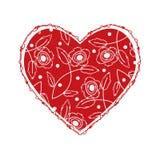 Bello cuore con progettazione floreale Royalty Illustrazione gratis