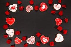 Bello cuore del pan di zenzero Fotografia Stock Libera da Diritti