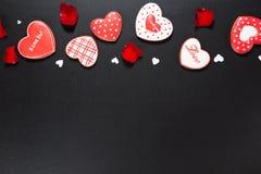Bello cuore del pan di zenzero Fotografie Stock